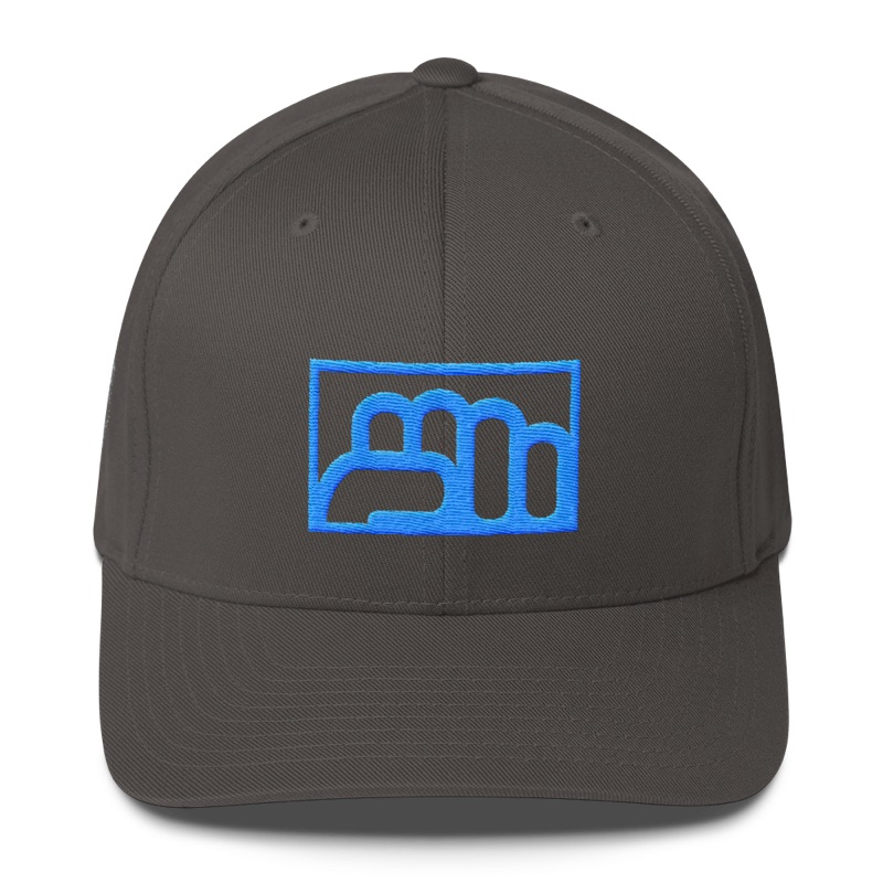 Team Bo - Gray and Blue Flexfit Fitted Cap
